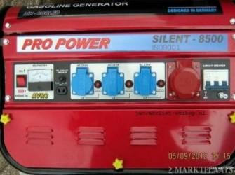 Actie 8500 Watt Aggregaat 3x 220 volt 1 x 380 Volt