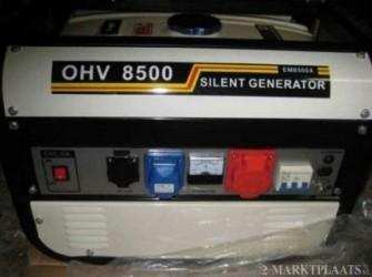 Nieuw  8.5 Kva 8000 Watt Geluidsarm Aggregaat AVR