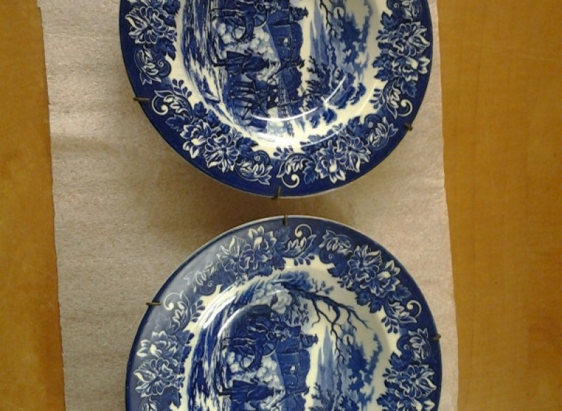 2x Wandbord Dickens Series Blauw
