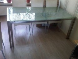 tafels rvs met glas