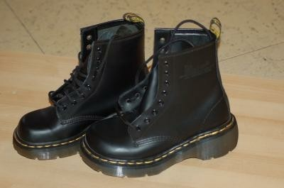 Dr. Martens AirWair with bouncing soles.