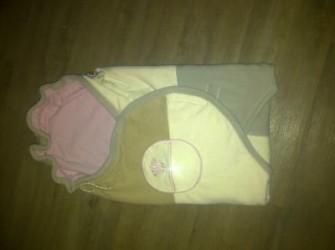 lodger fleece wrapper (rose/beige)