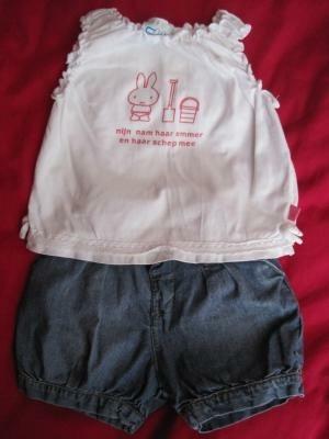 kort spijkerbroekje+ Nijntje zomerhemdje