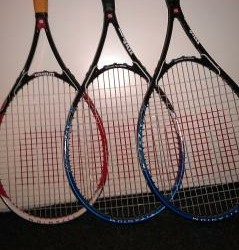 Wilson tennisrackets (3x)