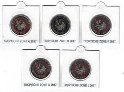 Duitsland 5 Euro 2017 Tropische Zone set van 5 munten