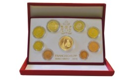 Vaticaan PROOF 2015 met Gouden 50 Euromunt