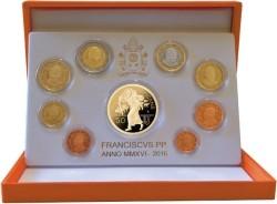 Vaticaan Proofset 2016 + 50 Euro Goud
