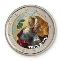 San Marino 2 Euro 2018 Tintoretto Gekleurd