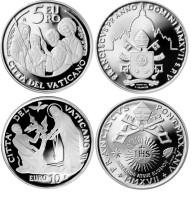Vaticaan 5 en 10 Euro 2017 Zilver