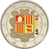 Andorra 2 Euro 2014 Normaal Gekleurd