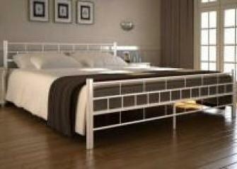 2-persoons bed van metaal wit 180 x 200 cm - Nieuw