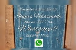 Maak nu 24/7 een afspraak via Whatsapp bij Sonja's Haarmode…