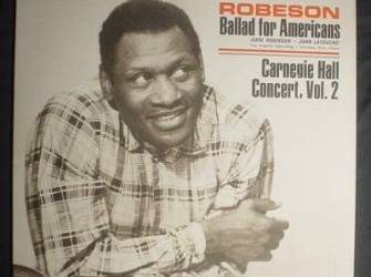 """Lp Paul Robeson,""""Ballad for Americans"""",USA p '65"""