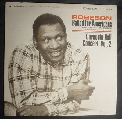 "Lp Paul Robeson,""Ballad for Americans"",USA p '65"