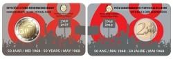België 2 Euro 2018 Studentenopstand 1968 Coincard Nederland…