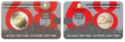 België 2 Euro 2018 Studentenopstand 1968 Coincard Frans