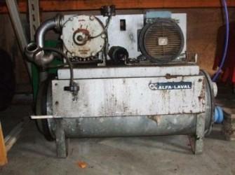 DeLaval Vacuumpomp vp 76 compleet met vochtsnijder