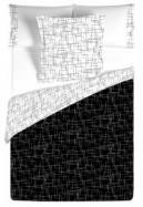 1 persoons dekbedovertrek squares zwart 140 x 260 cm, extra…