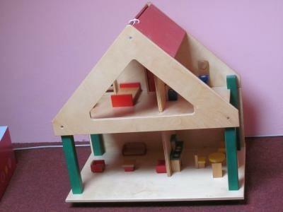 houten poppenhuis incl meubeltjes van jan bibe jan