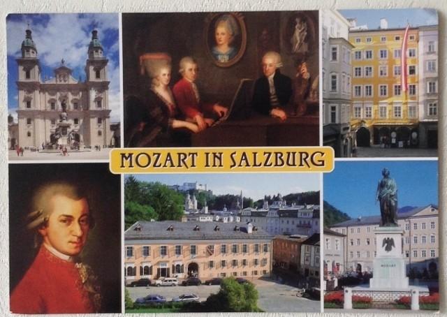 Ansichtkaart Mozart in Salzburg