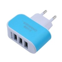 Triple (3x) USB Port iPhone/Android 5V - 3.1A Muur Oplader…