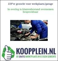 ZZP'er gezocht voor werkplaats/garage