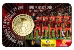 België 2,5 Euro 2018 Coincard Rode Duivels Frans