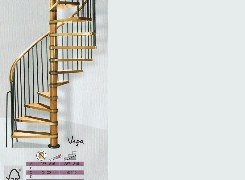 Spiltrap Vega doorsnede 140 cm bereikt een hoogte van 315 c…