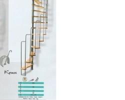 Ruimtebesparende spiltrap voor een trapgat van 125 bij 65 c…
