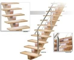 Design trap met ledverlichting onder de trede. zeer mooie t…