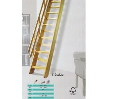 Beukenhouten steektrap ook wel molenaarstrap bij trappenspe…