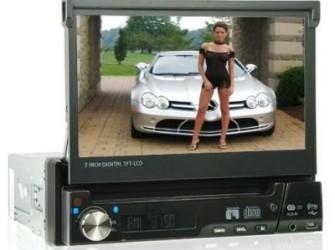 1-Din Dvd/Radio + TV Tuner (Nieuw) afneembaar Fron