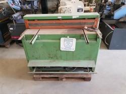 Compact schaar 1250x2mm JORG machines plaatschaar