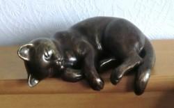 Urn - gedenkbeeld: Hond of Poes - brons