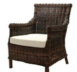 heerlijke rotan fauteuil met kussen NIEUW