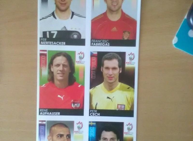 6 Panini plaatjes  Euro 2008
