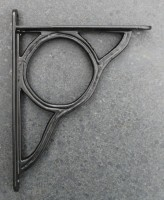 Plankdrager Industrieel, Zwart 14 cm. Gietijzer