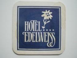 1 bierviltje Hotel Edelweiss