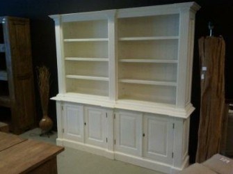 White Wash Bibliotheekkast Wit 200cm