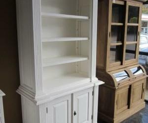 Witte Bibliotheekkast White Wash 100cm