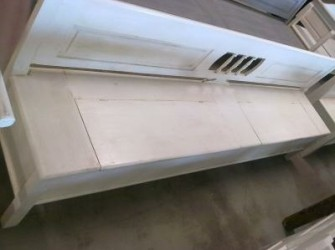Klepbank zonder armleuning strak 290cm