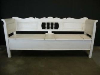 Klepbank sierlijk met armleuning 350cm
