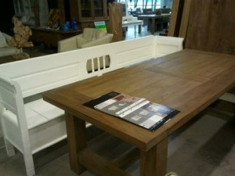 Kloostertafel teak hout 250cm