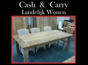 Dinclick tafel geleefd teak hout 160cm