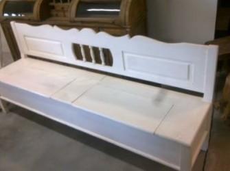 Klepbank zonder armleuning sierlijk 230cm
