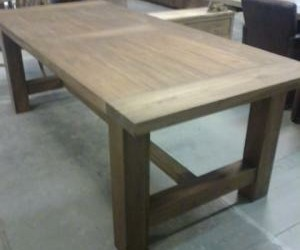Kloostertafel teak hout 225cm