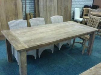Dinclick tafel geleefd teak hout 280cm