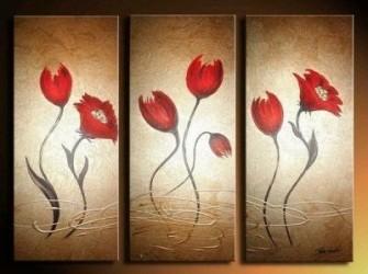 """Bloemen """"Alaine"""" Decoratief  Olieverfschilderij"""