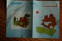 Playmobil dinos in habitat