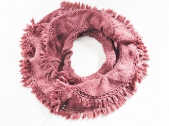 col sjaal met franje en schulprandje